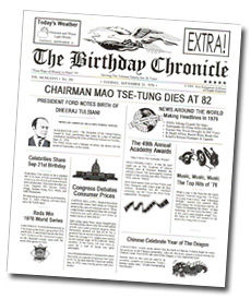The Day You Were Born In Headlines - Extravaganza Entertainment